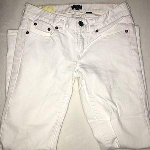 J.Crew white denim jeans size 24